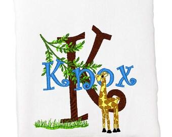 BATH TOWEL Hungry Giraffe  Personalized FREE