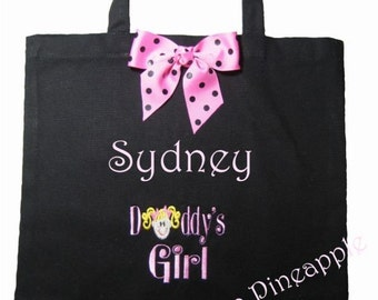 CANVAS TOTE Daddy's Girl Personalized FREE