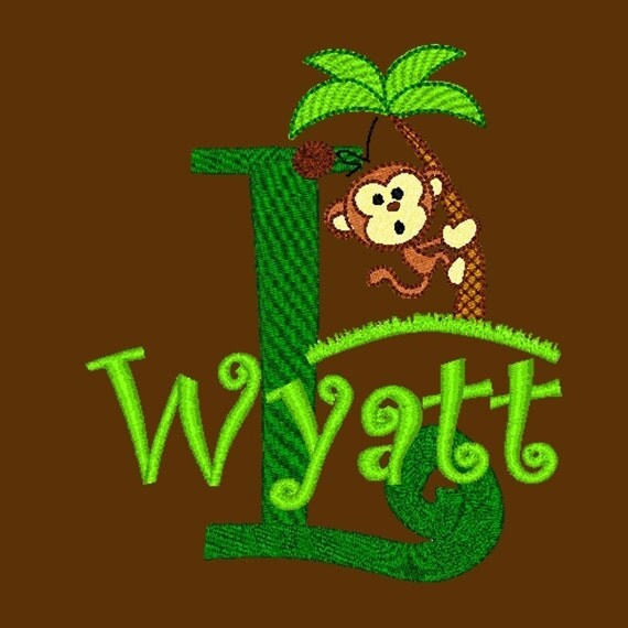 FUN TOTE     Monkey In A Coconut Tree    Personalized FREE