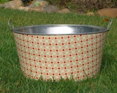 Baby Prop Large Round Galvanized Party Tub Blush Meadow Dot