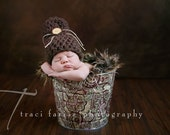 Newborn Baby Boy Photo Prop Galvanized Bucket Antique Paisley