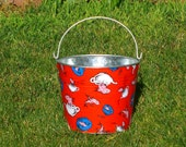 Children's Pail Galvanized Metal One Fish Two Fish