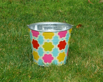Flower Girl Basket Galvanized Pail Tarika Gem