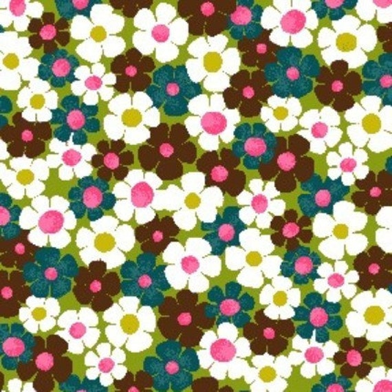 Marcia Fabric by Michael Miller BRADY BUNCH LAST Remnent 19 x 18 inches