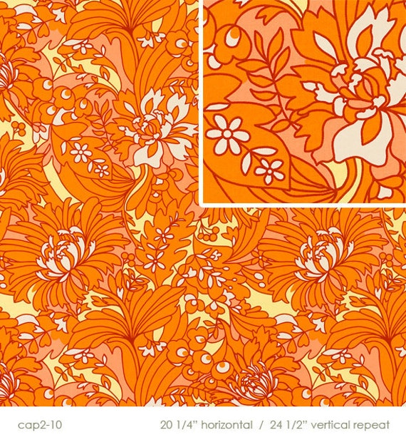 orange bloom home decor fabric by butler august