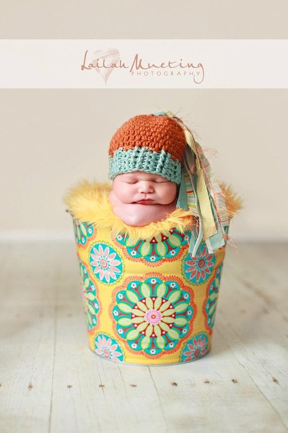 Photo Prop Newborn Baby Galvanized Tub Yellow Kaleidoscope Dot