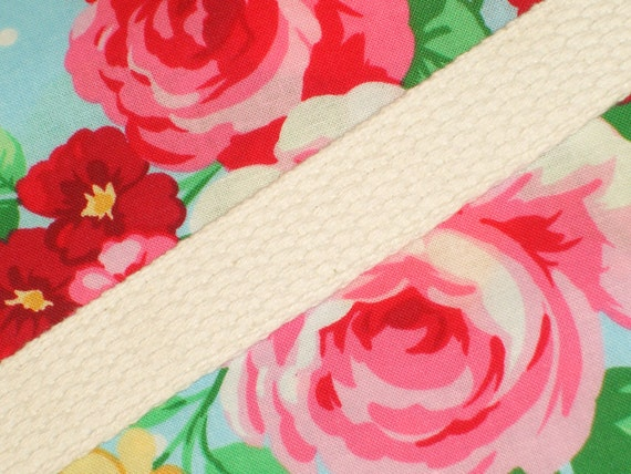 1 Inch Wide Durable White Cotton Webbing 2 Yards Long - Tote Bag Purse Straps - Belt - Bunting