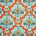 "Tangerine Orange French Wallpaper Fabric by Amy Butler for Rowan Belle 38"" long x 15"" wide"