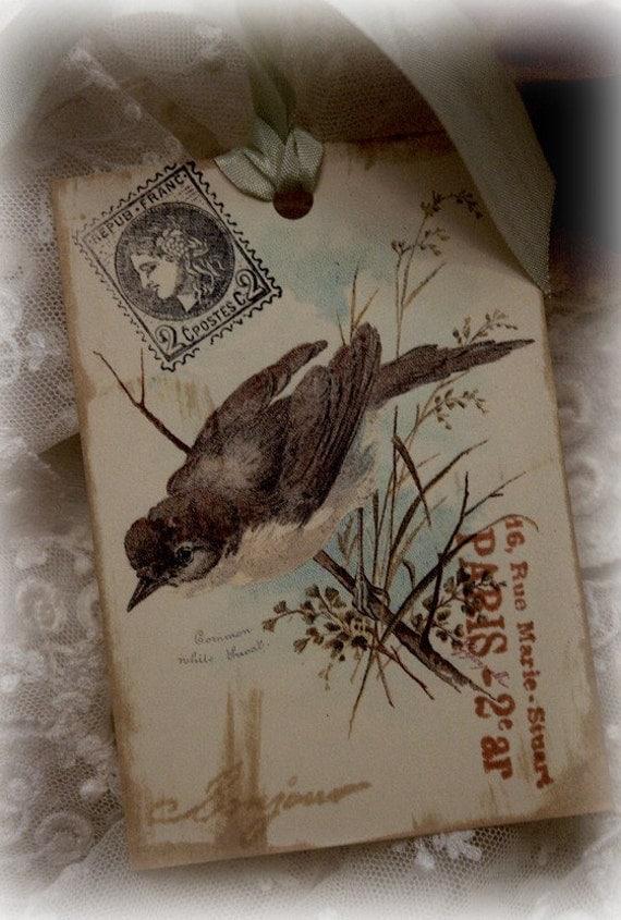 Garden Song Bird hangtags