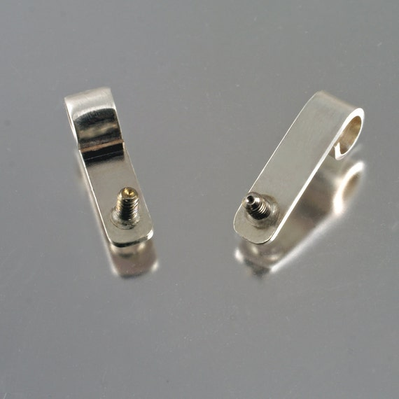 wholesale pack of five of sterling silver screw topped pendant bails for threaded toppers