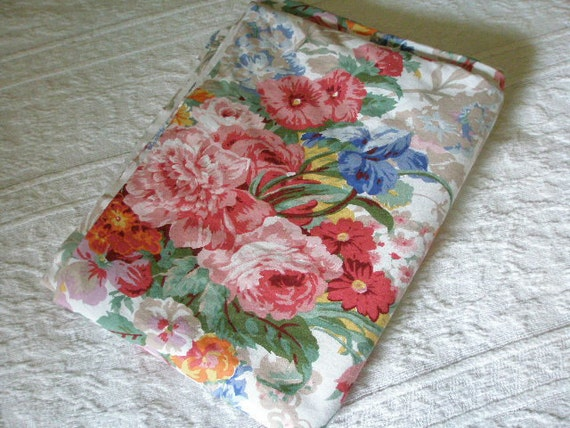 Vintage Ralph Lauren - Beach House Collection -- Large Floral Flat Twin Sheet for Vintage Fabric Use NEW Condition