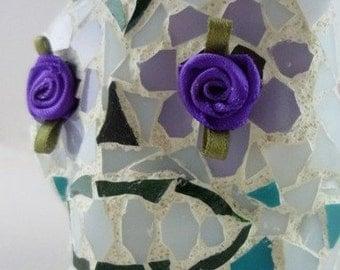 "SALE -- Glass Mosaic ""Sugar"" Skull No. 2"