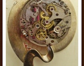 steampunk Time Travel pin/brooch