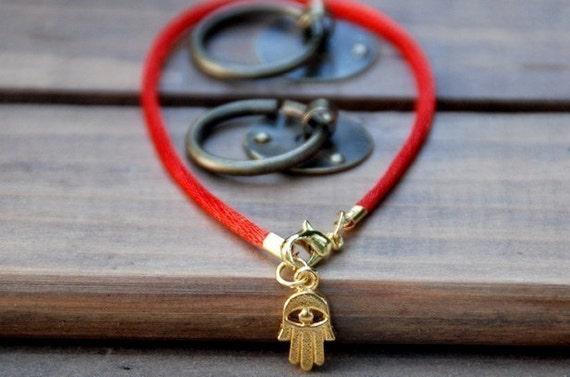 Red string Bracelet evil eye Kabbalah Madonna hamsa