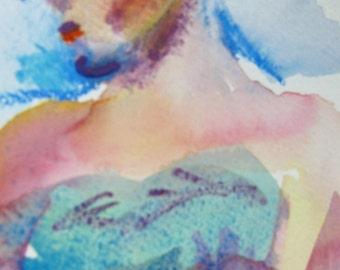 Marsha Original watercolor by May Hiddleston