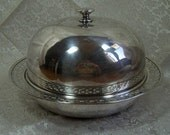 SILVERPLATE Combination Butter Dish, Cheese Dish, Domed Lid - Multi purpose Dish