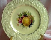 FLORENTINE  PLATE For hanging - Crown Ducal - Made in England - Fruit Display - Vintage  Cottage