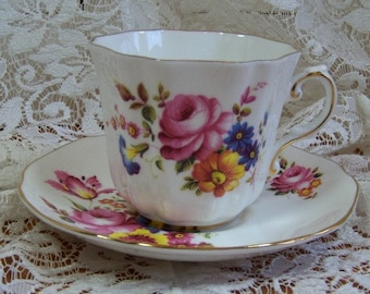 Cup and Saucer, Made in England, Bone China by Royal Grafton - numbered