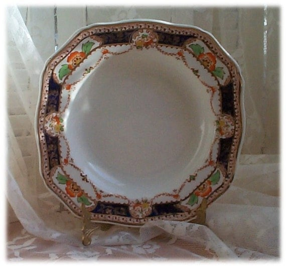 Vintage Soup Bowl 1933 Royal Caledonia Numbered By Sandisstuff
