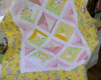 Flannel Baby String Quilt--Free Shipping