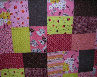 Modern Lap Quilt---Free Shipping