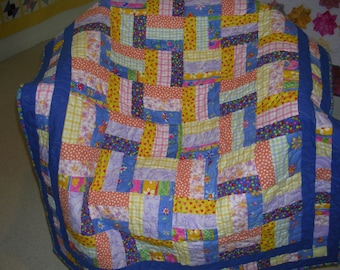 Baby or Child Flannel Quilt  Sale-Free Shipping