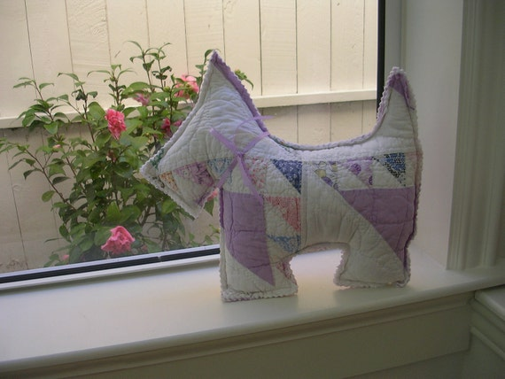 Scotty dog from vintage quilt Reserve for rokitboy