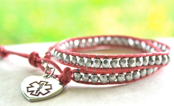 Items Similar To Children S Medical Id Wrap Bracelet With