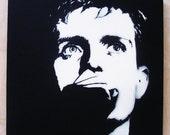 Ian Curtis Stencil Graffiti On Canvas Joy Division