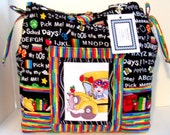 School Bus Driver Handmade Tote bag (B)