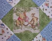 Winnie the Pooh 100% cotton Prewashed Pre Cut Fabric Quilt Block Kit stk#94B