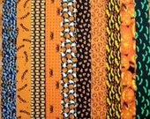 HALLOWEEN 100% cotton Prewashed Quilt Fabric Strips Jelly Roll (#82A)