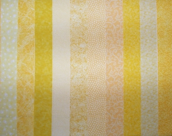 YELLOW 100% cotton Prewashed Quilt Fabric Strips for Jelly Roll Quilts (#stk58)