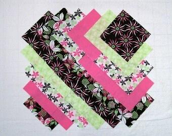 HOT TROPICS 100 % cotton Prewashed 5 inch Quilt Fabric Squares (E/101A)