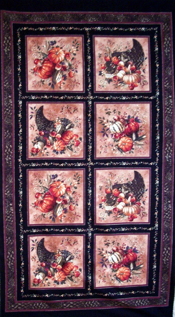 HARVEST 100% cotton Prewashed Quilt Panel by P and B Textiles  (#E/107A)