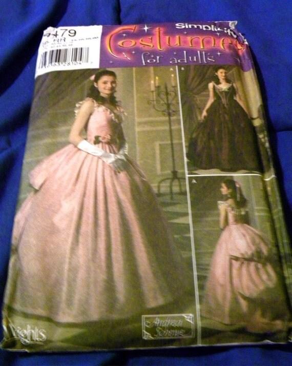 OOP Phantom of the Opera inspired Costume Pattern Simplicity 4479  Victorian Gown Halloween Destash