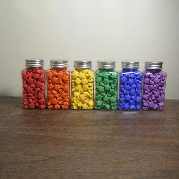 Items similar to over the rainbow origami lucky stars on for Diy lucky stars