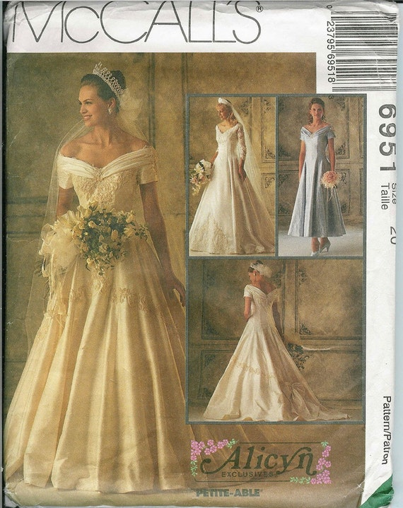 Mccalls 6951 sewing pattern women and petites by for Mccall wedding dress patterns