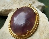 Reserved For Diana Nur Amethyst Quartz Cabochon Pendant FREE Shipping in USA