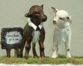 custom made your cake topper with the sculpture of your pets and keep it forever, by patysclay