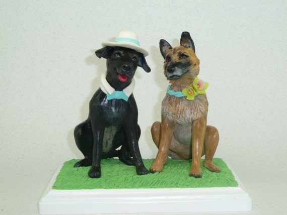 Order your custom wedding animal topper with their looks decorated with your style