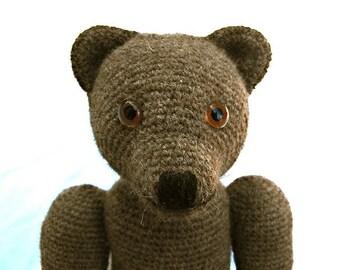 Finbar Crochet Classic Bear Teddybear Pattern PDF