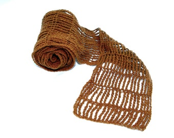 Clementine Scarf Crocheted From Luxury Vicuna Fiber
