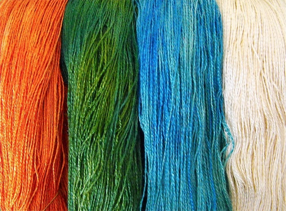 The Four Elements Hand-Dyed Mulberry Silk Lace Yarn 1046yds 3.15oz