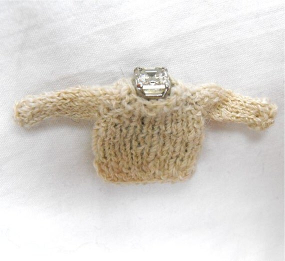 Engagement Ring Cozy Knitting Pattern PDF Knit Jewelry Box