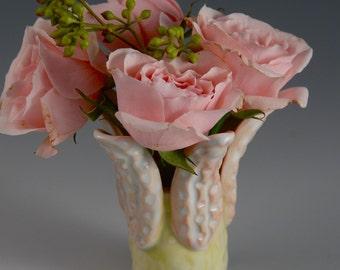 Petite Handmade Porcelain Vase for Mother