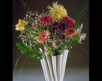 Handmade Folded Porcelain Flower Vase