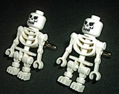CUFF LINKS - LEGO SKELETONS Set HALLOWEEN Cufflinks with FREE GIFT BOX - Spooky French Cuffs