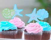 Under the Sea - Custom Cupcake Toppers from Mary Had a Little Party