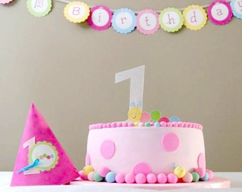 The Caterpillar Collection - Custom Number Cake Topper